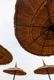 Abstract image of umbrellas Stock Images