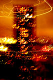 Abstract image in warm tones. Night abstract scene in red and yellow tones looking like a fire Royalty Free Stock Images