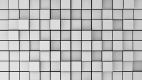 Abstract image of white cubes with different heigh Royalty Free Stock Photo