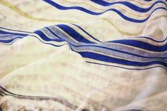 Abstract image of white Prayer Shawl - Tallit, jewish religious symbol. Double exposure concept Royalty Free Stock Photos