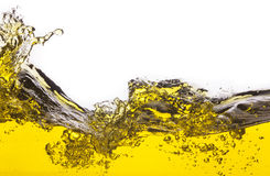 Abstract image of a yellow liquid spilled. Stock Images