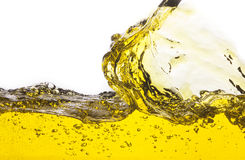 Abstract image of a yellow liquid spilled. Royalty Free Stock Photography