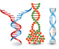 Abstract images of broken DNA chains. On the white background Stock Photography