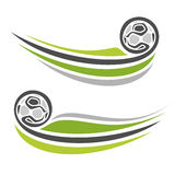 Abstract images on the football theme. Abstract image of the emblems on the football theme stock illustration