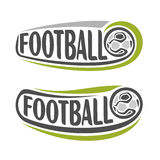 Abstract images on the football theme. Abstract image of the emblems on the football theme vector illustration
