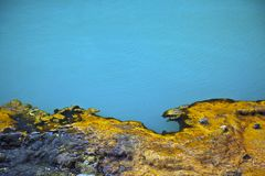 Abstract imgae of geothermal lake Royalty Free Stock Photos