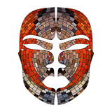 Abstract imitation of African mask Royalty Free Stock Image