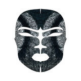 Abstract imitation of African mask Royalty Free Stock Photos