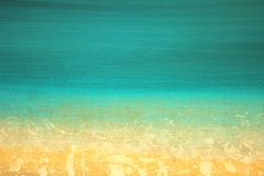 Abstract Impressionisthand geschilderd Art. Als achtergrond Stock Afbeelding