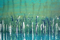 Abstract Impressionisthand geschilderd Art. Als achtergrond Stock Afbeeldingen