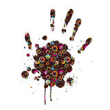 Abstract imprint of the hand Royalty Free Stock Photo
