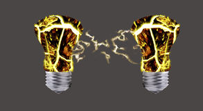 Abstract - incandescent light bulbs Stock Images