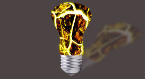 Abstract - incandescent light bulbs Stock Photography