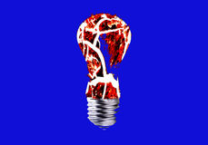 Abstract - incandescent light bulbs Royalty Free Stock Photos