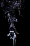Abstract incense smoke isolated Stock Photos