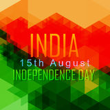 Abstract independence day. Abstract style vector indian independence day design Stock Illustration