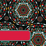 Abstract Indian Dark Card eith Colorful Deco Stock Images