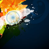 Abstract indian flag Stock Photo
