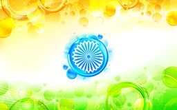 Abstract Indian Flag Background. Illustration of abstract circular shape in indian flag tricolor Royalty Free Stock Photo