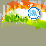 Abstract indian flag design Stock Photo