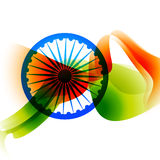 Abstract indian flag design Royalty Free Stock Photography