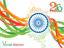 Abstract indian flag wave background Royalty Free Stock Images