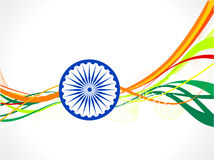 Abstract indian flag wave concept Stock Image