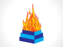 Abstract indian flame burner Royalty Free Stock Photo