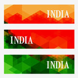 Abstract indian header set Royalty Free Stock Images