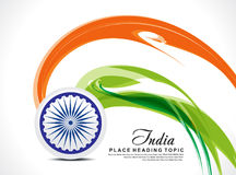 Abstract indian independence day background Stock Photography