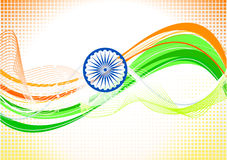 Abstract indian independence day wallpaper. Illustration Royalty Free Stock Image