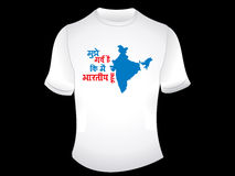 Abstract indian proud tshirt design Royalty Free Stock Photo