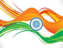 Abstract indian republic day wave background Stock Photo