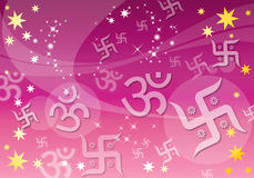 Abstract Indian Spiritual Background royalty free illustration