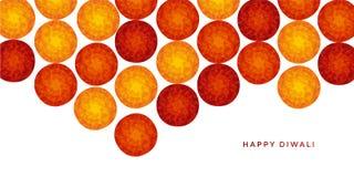 Abstract Indisch bloemenpatroon voor diwalifestival stock illustratie