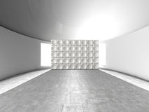 Abstract indoor futuristic acoustic wall stock illustration