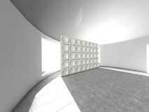 Abstract indoor futuristic acoustic wall royalty free illustration
