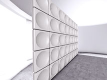 Abstract indoor futuristic acoustic wall Stock Photo