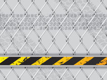 Abstract industrial background with wired fence Stock Image