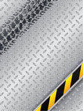 Abstract industrial design with grunge tire track Stock Photography