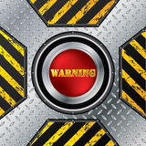Abstract industrial design with red button Stock Photo