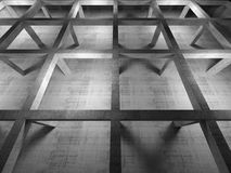 Abstract industrial empty 3d concrete interior, top view Stock Photo