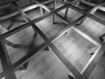 Abstract industrial empty 3d concrete interior. Top view with perspective effect Royalty Free Stock Photography