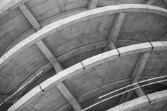 Abstract industrial gray concrete building. Under construction Stock Photography
