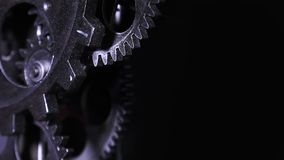 Abstract Industrial Grunge Rusty Metallic Clock Gears Stock Photos