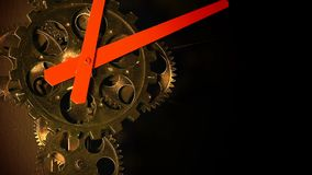 Abstract Industrial Grunge Rusty Metallic Clock Gears stock video