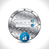 Abstract industrial login screen design Stock Photo