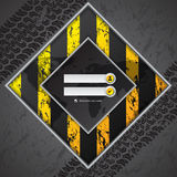 Abstract industrial login screen design. With truck tire background Stock Photos