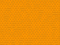 Abstract industrial realistic embossing volume cylinder texture, depressed circles orange background, 3d geometric pattern Royalty Free Stock Photo