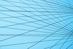 Abstract industrial webbing with a blue sky Royalty Free Stock Photo